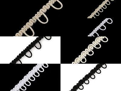 1m Knopfband mit elastischen Ösen Brautmode nähen  ()