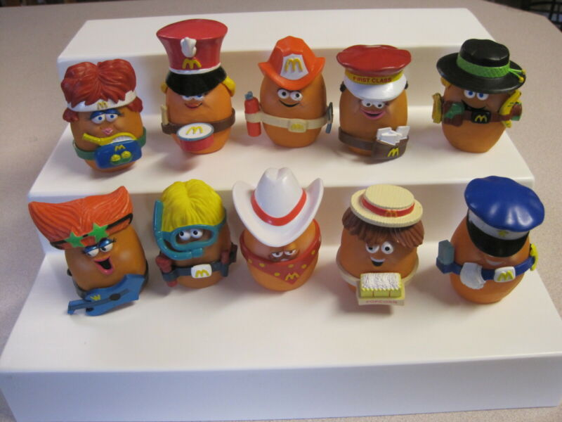 McDonalds 1988 Chicken McNugget (Nugget)  Buddies - Complete Set of 10 - Loose
