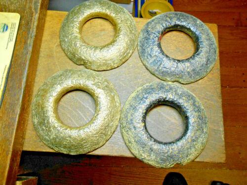 Vintage Solid Brass Quoits Set / 4 lb Size