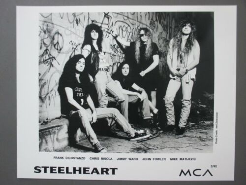 Steelheart black & white 8 X 10 glossy promo photo ORIGINAL 1992 !