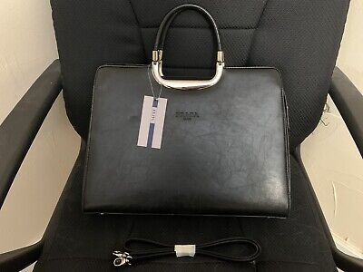Prada Black Handbag Purse Gold In Great Condition Shipped Fast!