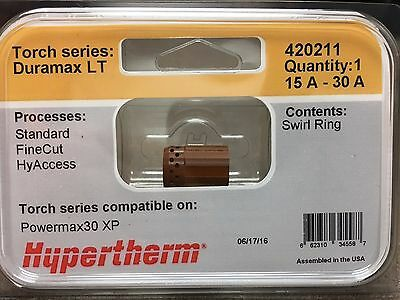 Genuine Hypertherm 420211 Swirl Ring Powermax 30 Xp Plasma Duramax Lt