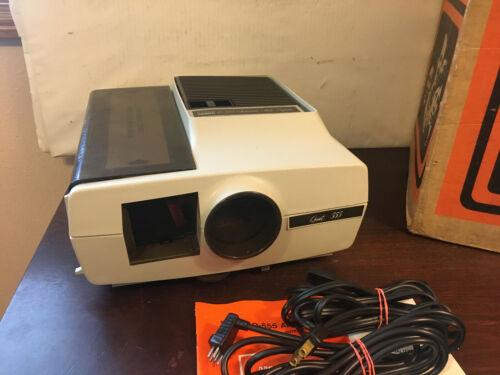 Montgomery Ward Color Slide Projector Q-555, w Box & Manual, Remote, Cords, 2x2