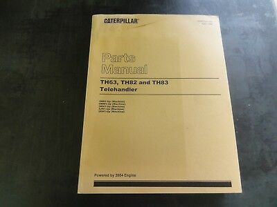Caterpillar Cat Th63 Th82 And Th83 Telehandlers Parts Manual Sebp2351-05