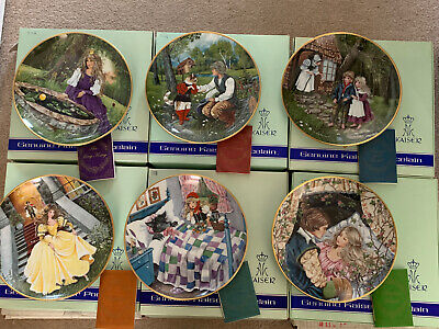 6 Kaiser Classic Fairy Tale Porcelain Plates
