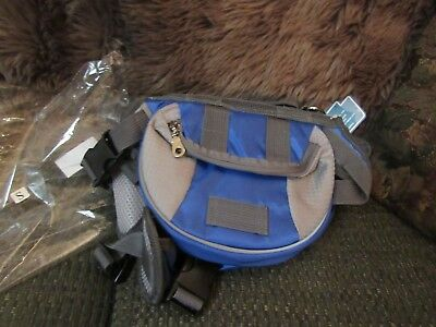Tail Up blue grey Canvas Black Mesh Backpack Dog Carrier Size s small Never Used