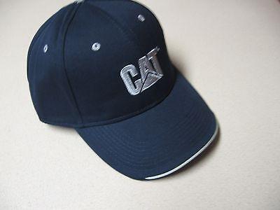 Cat Ball Cap Caterpillar Hat NWT Navy & Gray