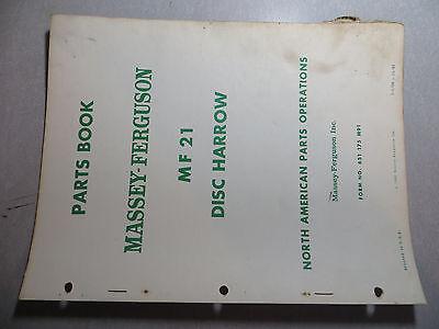 Massey Ferguson 21 Disc Harrow Parts Book