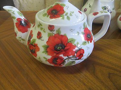 Beautiful Rose Peony Garden Floral Porcelain Tea Pot Teapot