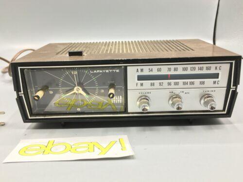 Vintage LAFAYETTE 17-0164W AM/FM Radio and Alarm Clock