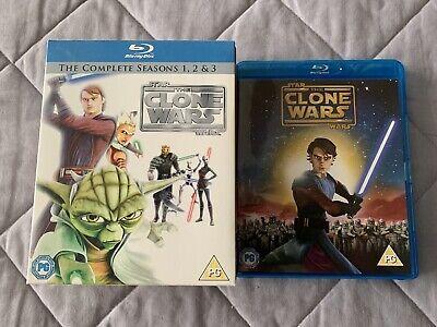 Star Wars Bundle - Clone Wars Series 1-3 (Blu ray) and Clone Wars (Blu ray)