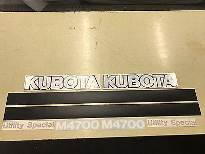 Kubota M4700 Tractor Decals