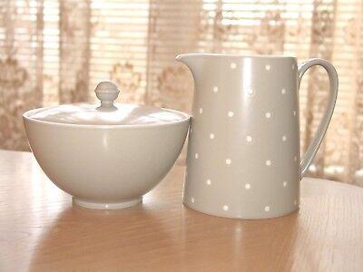 Kate Spade New York Larabee Dot Grey Creamer & Sugar Bowl with Lid Lenox  NEW - Lenox Larabee Dot