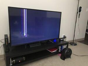 """Toshiba 55"""" LED Chrome cast Enable TV (LED Damaged)"""