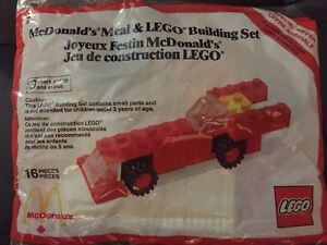 1986 McDonald's LEGO building set toy