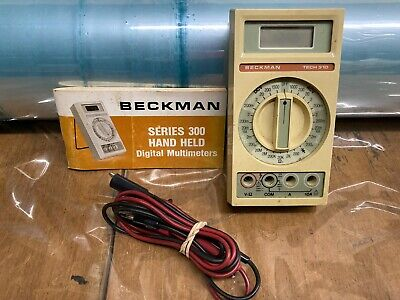 Used Vintage Beckman Tech 310 Wleads And Operators Manual