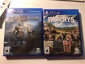 God of war et farcry 5 a vendre ou echange contre jeux switch