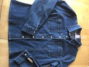 Veste jeans /polyester femme