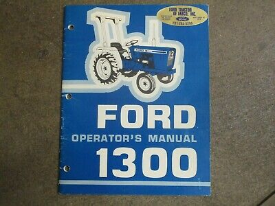 Ford 1300 Tractor Owners Maintenance Manual
