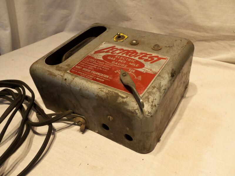 Vintage Kent Moore Automotive Garage Lectrotest Electric Gas-Per-Mile Fuel Gauge