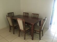 Solid Wood 3 piece set with Leather Lounge Ipswich Ipswich City Preview