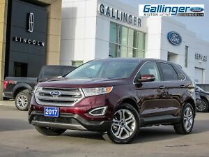 2017 Ford Edge TITANIUM w/302A PKG, HEATED STEERING WHEEL, AND P