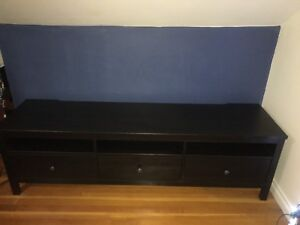 Dark Brown TV bench Stand from Ikea