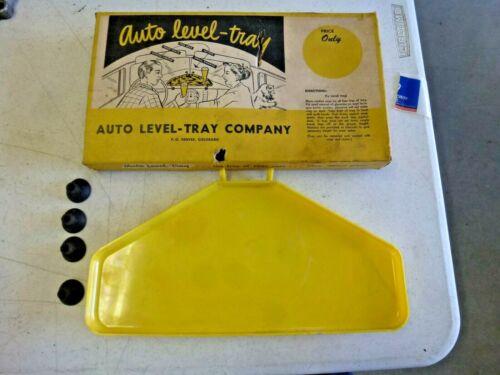 NOS 1940s 1950s Auto Level Car Dash Snack Tray Accessory ! ! !