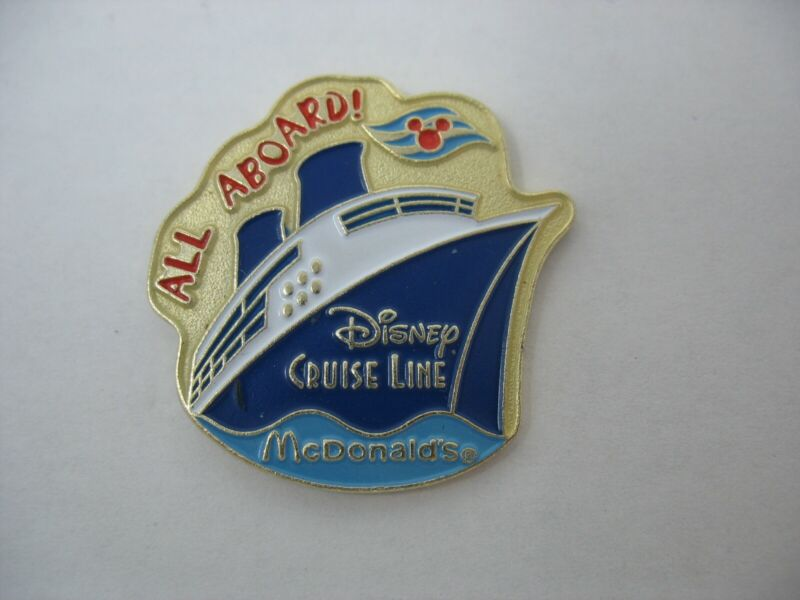 DISNEY CRUISE LINE LAPEL PIN - MCDONALDS - All Aboard