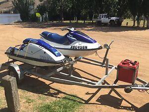 Two jet skis and trailer. Yamaha GP1200  Kawasaki SX650 Weston Weston Creek Preview