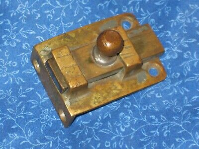 Primitive Antique Solid Brass Draw / Slide Bolt Latch Hand Made
