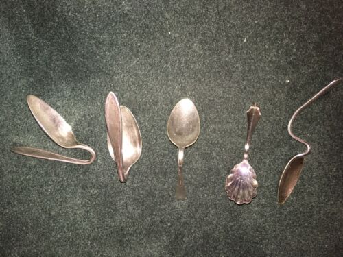 5 Curved Rogers,Cromwell Silver Plate,Community Oneida Spoons - $10.00