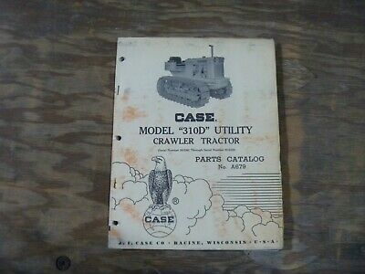 Case 310d Utility Crawler Tractor Factory Original Oem Parts Catalog Manual Book