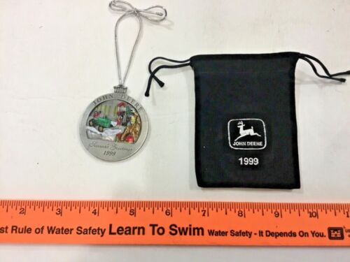 1999 John Deere pewter ornament with bag #4, FREE shipping!