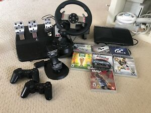 500gb PS3 with Games, Controllers, Racing Parts