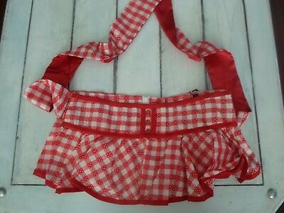 LIVING DEAD SOULS NEW LADIES RED GINGHAM ROCKABILLY MINI SKIRT TIE BACK NWT'S](Red Gingham Skirt)