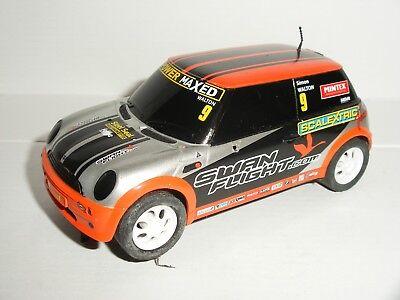 Scalextric - BMW Mini Cooper #9 Orange (White Wheels) - Exc. Cdn.