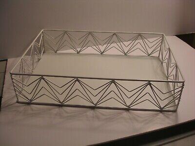 White Metal Wire File Desk Tray
