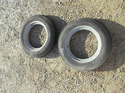 Farmall A B Bn C Tractor 5.00 X 15 Front Ih Open Center Rims W Firestone Tires