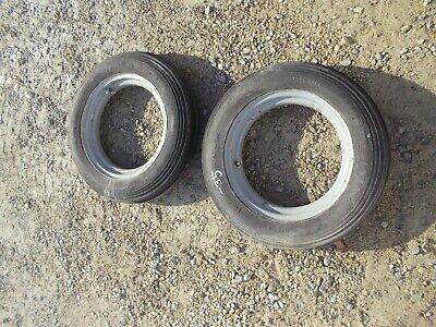 Farmall A B Bn C Tractor 5.00 X 15 Front Ih Open Center Rims W Firestone Tires