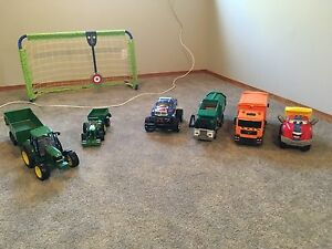 Boys Tractors and Large trucks