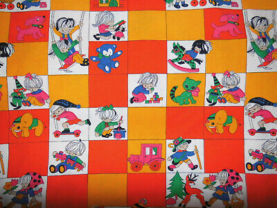 00x135 Stoff 70er vintage fabric bedding 70s Graziela Ära diy (Diy Kinderbett)
