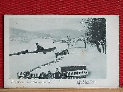 RARITÄT - Elisenthal im Winter - heute Alzbetin - um 1900 - Zelezna Ruda   m1