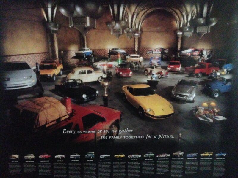 Vintage datsun / nissan dream garage poster Rare .