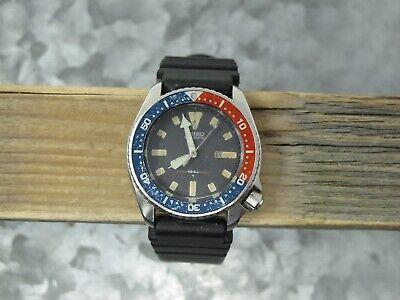 Vintage Seiko Automatic Diver Pepsi Bezel 150M 4205-015T Wrist Watch, Running