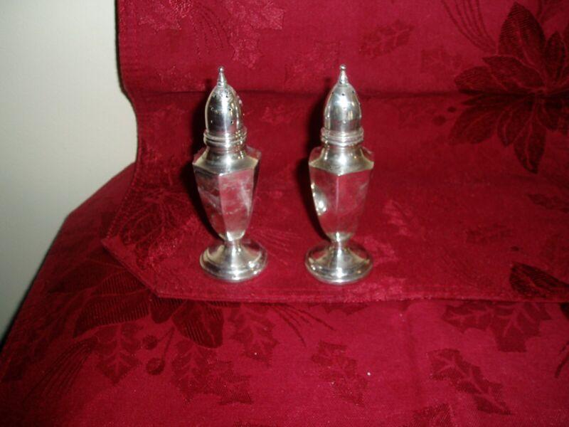 sterling silver salt and pepper shaker