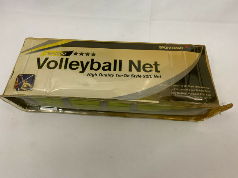 Sportcraft Vintage Volleyball Net High Quality Tie-on Style 32 ft. Net