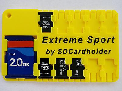 Waterproof SD Card Holder Storage Wallet Case SD/SDHC/SDXC GoPro/Drone