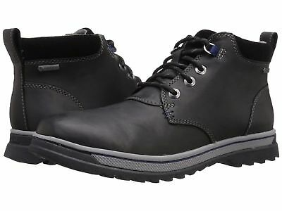 Clarks PLUS* WATERPROOF Ripway Hill GTX Black Leather Boot Men UK-9 G  EU-43 M Plus Gtx Boot