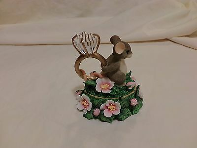 CHARMING TAILS LOVE EXPRESSIONS LIDDED BOX 93/211 DIAMOND RING DEAN GRIFF(72)